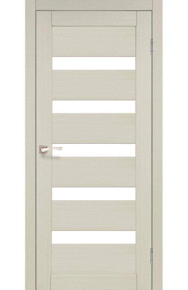 Двери Porto PR-03 Корфад беленый дуб стекло Сатин - Межкомнатные двери — фото №1