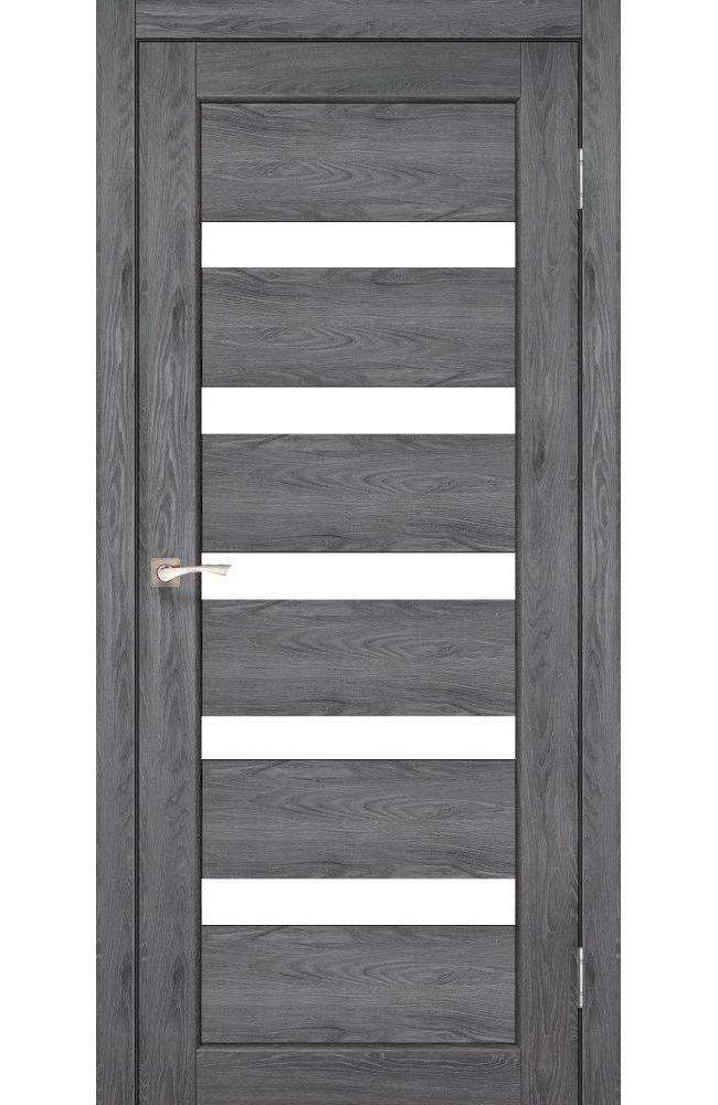 Двери Porto PR-03 Корфад дуб марсала стекло Сатин - Межкомнатные двери — фото №1