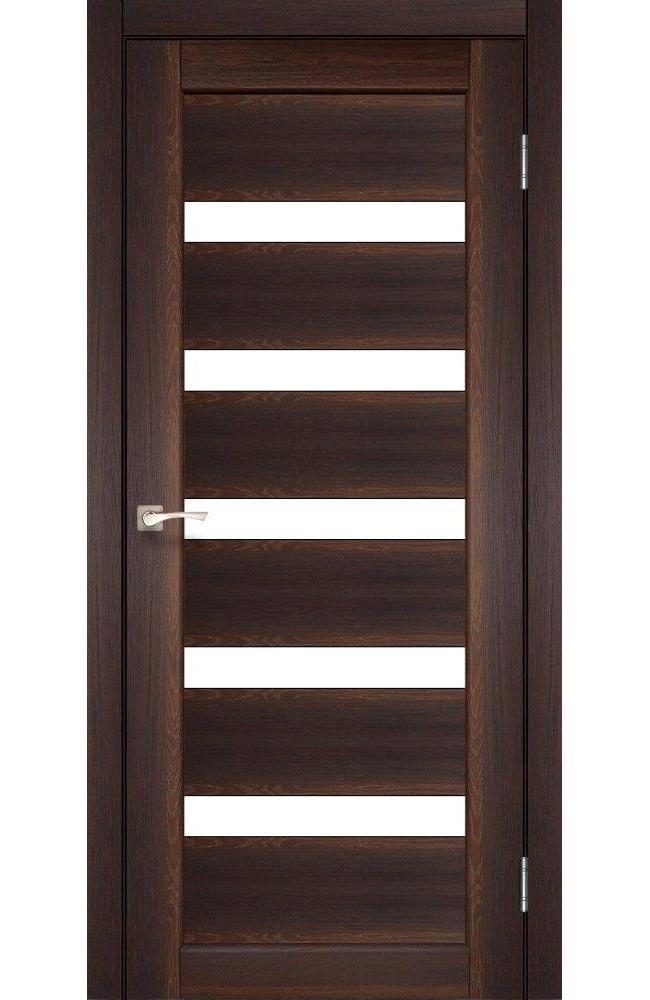 Двери Porto PR-03 Корфад орех стекло Сатин - Межкомнатные двери — фото №1