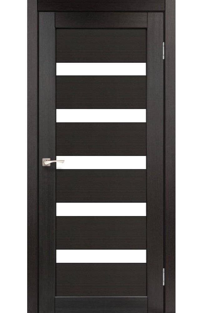 Двери Porto PR-03 Корфад венге стекло Сатин - Межкомнатные двери — фото №1