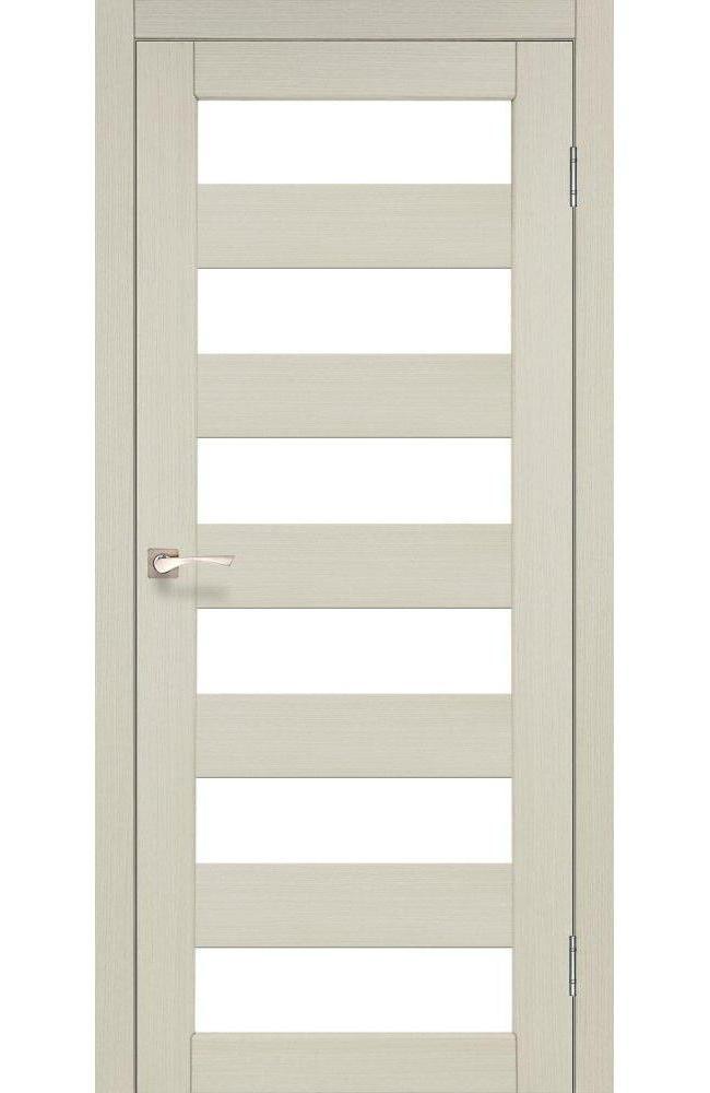 Двери Porto PR-04 Корфад беленый дуб стекло Сатин - Межкомнатные двери — фото №1