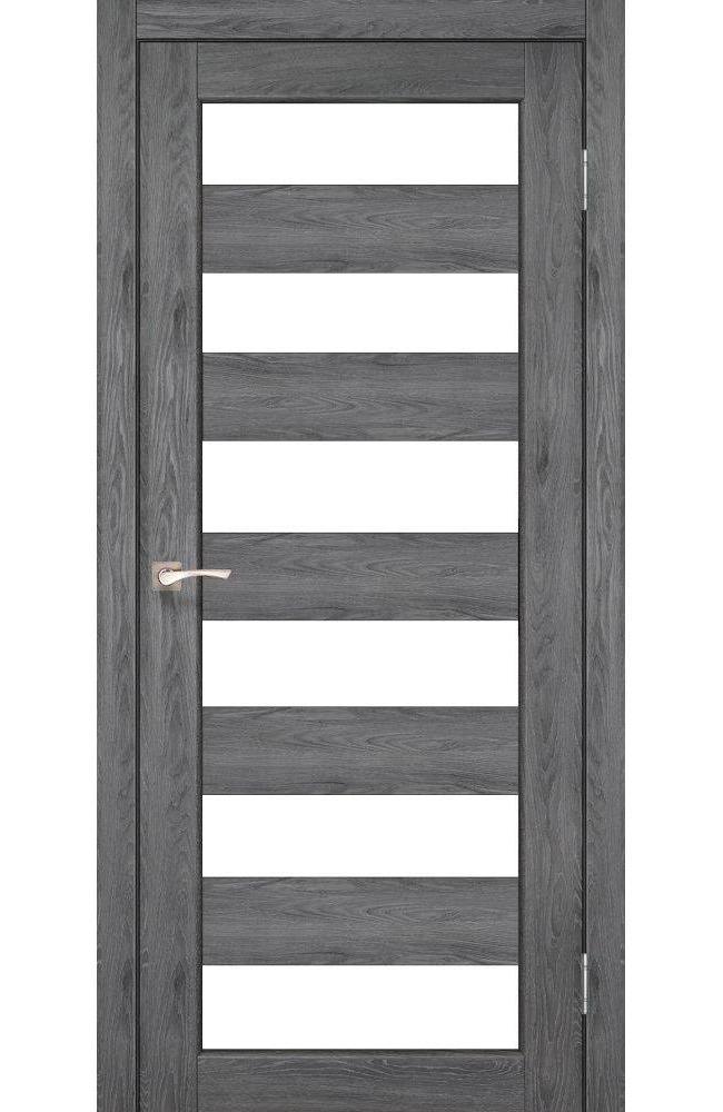 Двери Porto PR-04 Корфад дуб марсала стекло Сатин - Межкомнатные двери — фото №1