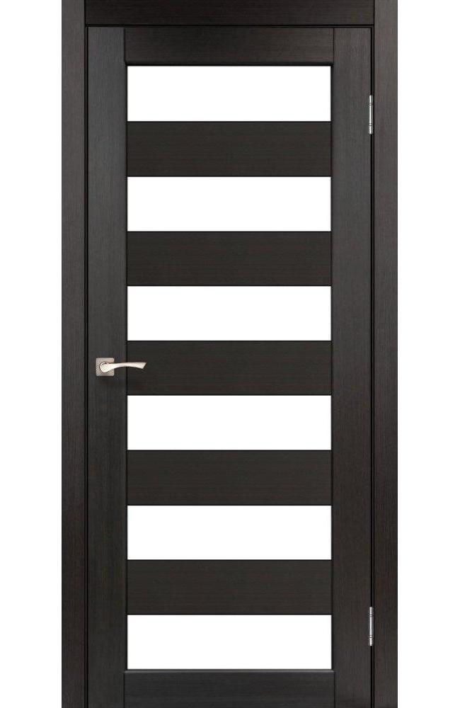Двери Porto PR-04 Корфад венге стекло Сатин - Межкомнатные двери — фото №1