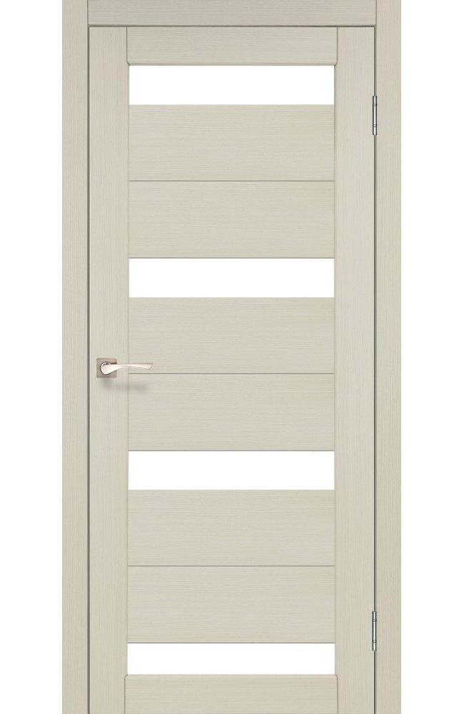 Двери Porto PR-06 Корфад беленый дуб стекло Сатин - Межкомнатные двери — фото №1