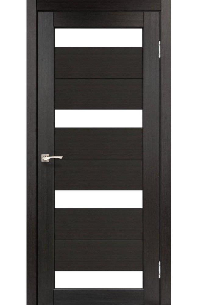 Двери Porto PR-06 Корфад венге стекло Сатин - Межкомнатные двери — фото №1