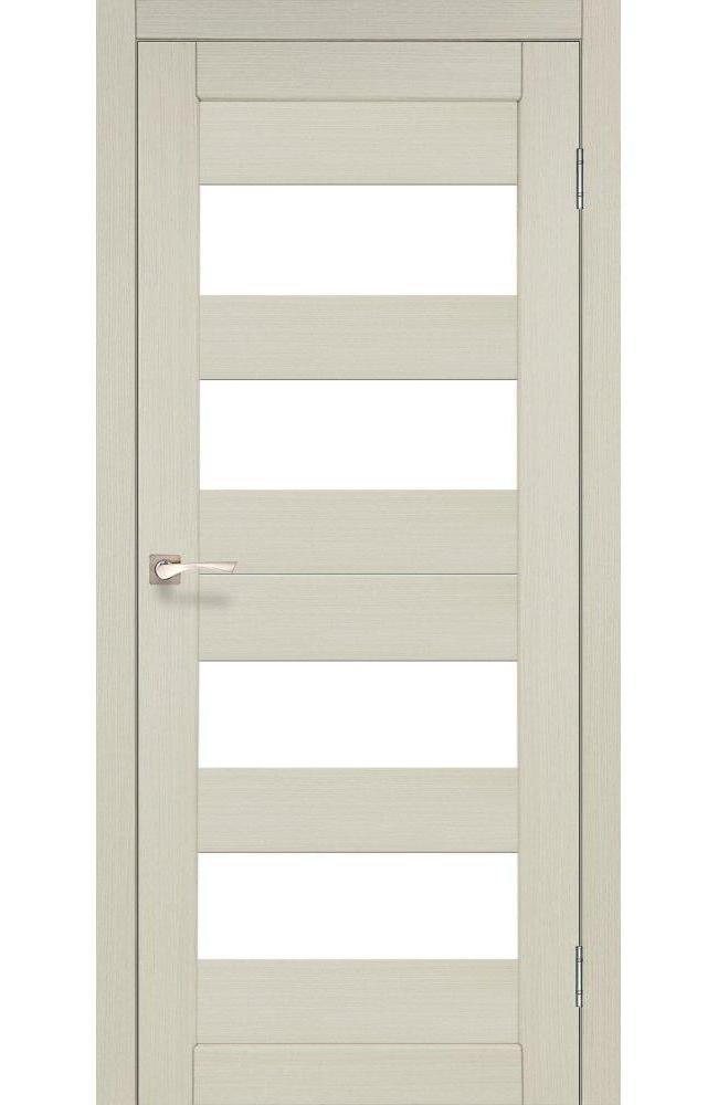 Двери Porto PR-07 Корфад беленый дуб стекло Сатин - Межкомнатные двери — фото №1