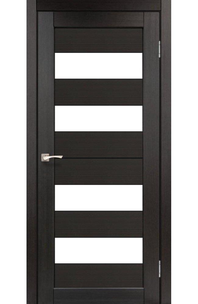 Двери Porto PR-07 Корфад венге стекло Сатин - Межкомнатные двери — фото №1