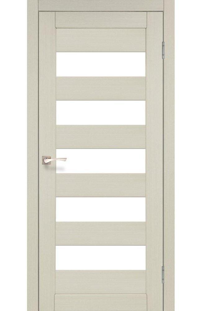 Двери Porto PR-08 Корфад беленый дуб стекло Сатин - Межкомнатные двери — фото №1
