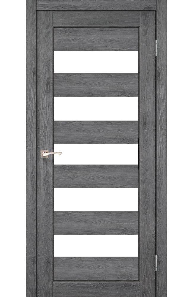Двери Porto PR-08 Корфад дуб марсала стекло Сатин - Межкомнатные двери — фото №1