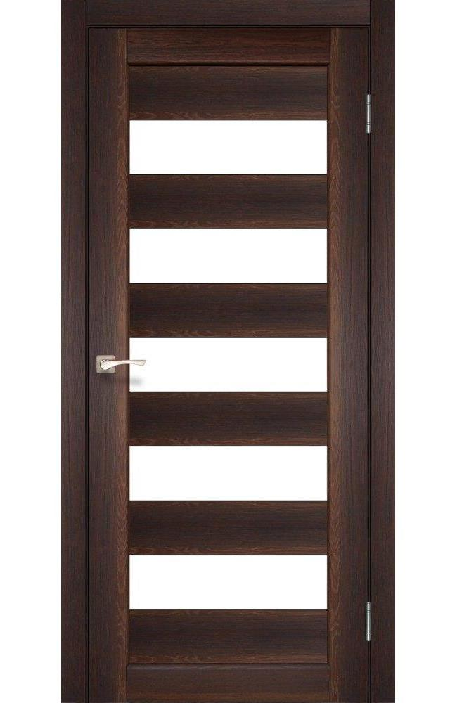 Двери Porto PR-08 Корфад орех стекло Сатин - Межкомнатные двери — фото №1