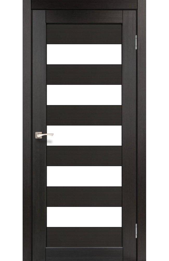 Двери Porto PR-08 Корфад венге стекло Сатин - Межкомнатные двери — фото №1