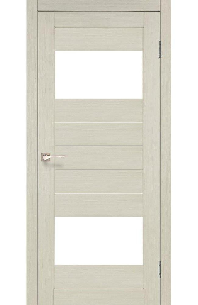 Двери Porto PR-09 Корфад беленый дуб стекло Сатин - Межкомнатные двери — фото №1