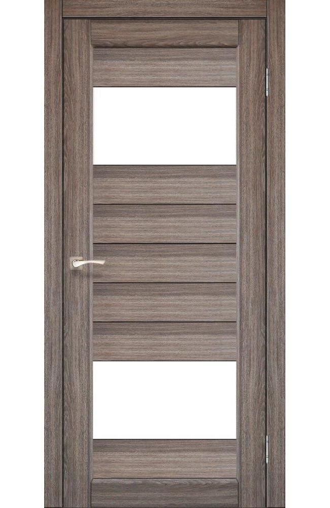 Двери Porto PR-09 Корфад дуб грей стекло Сатин - Межкомнатные двери — фото №1