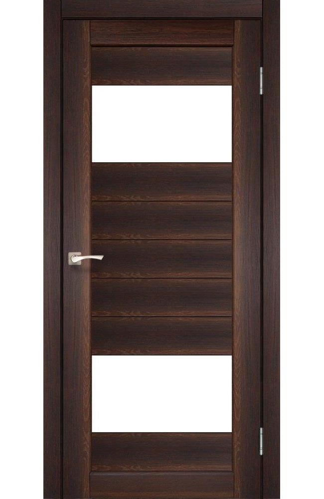 Двери Porto PR-09 Корфад орех стекло Сатин - Межкомнатные двери — фото №1
