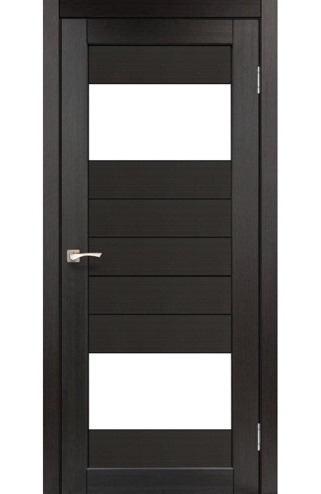 Двери Porto PR-09 Корфад венге стекло Сатин - Межкомнатные двери — фото №1