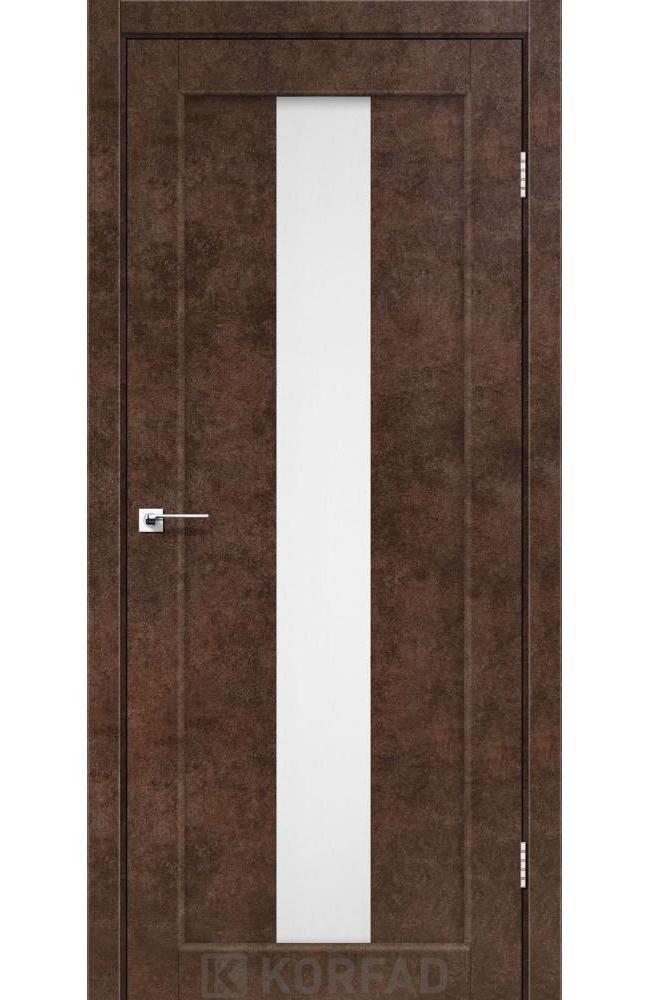 Двери Porto PR-10 Корфад арт бетон стекло Сатин