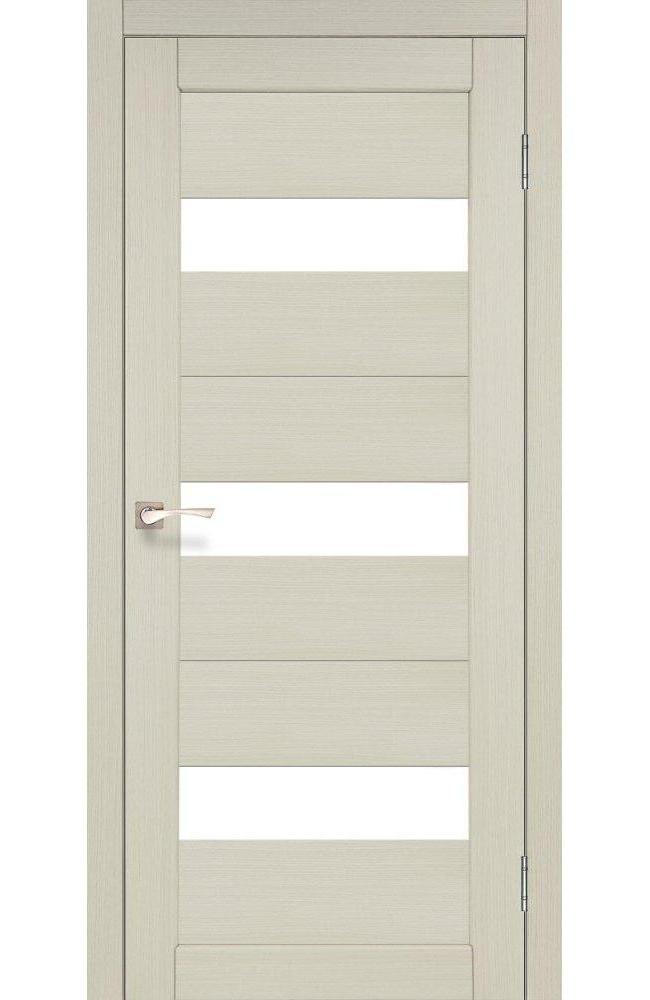 Двери Porto PR-11 Корфад беленый дуб стекло Сатин - Межкомнатные двери — фото №1