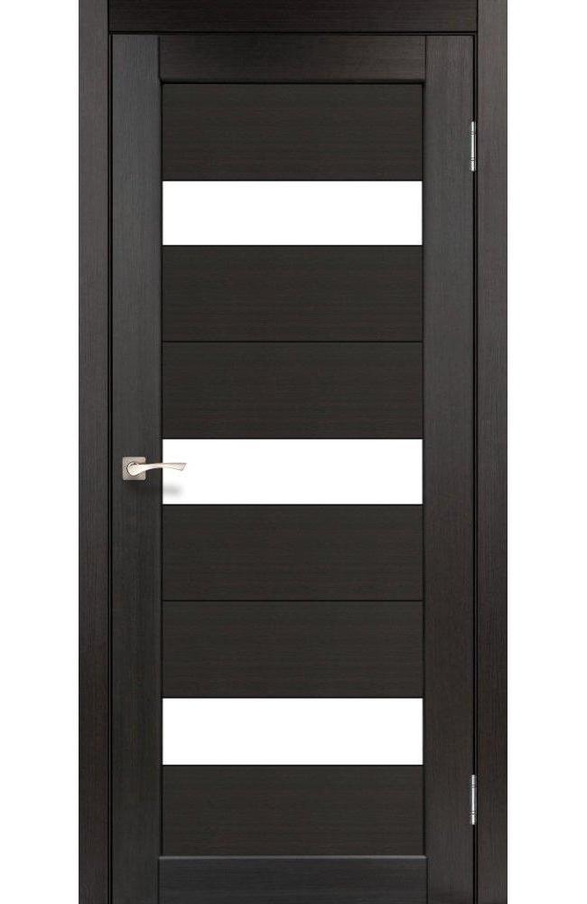 Двери Porto PR-11 Корфад венге стекло Сатин - Межкомнатные двери — фото №1