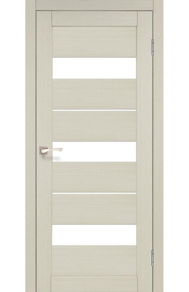Двери Porto PR-12 Корфад беленый дуб стекло Сатин - Межкомнатные двери — фото №1