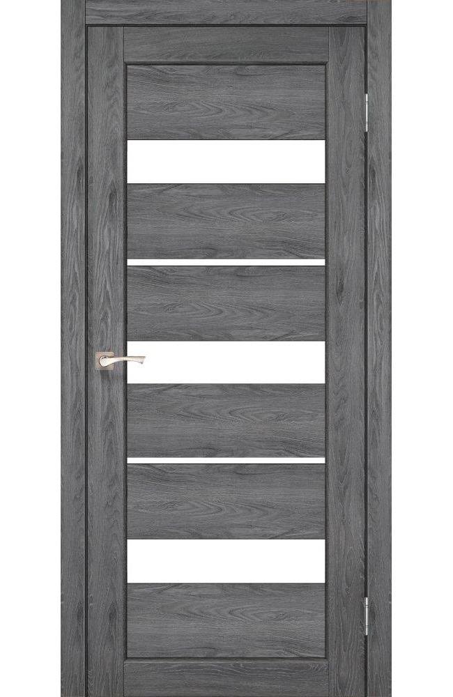 Двери Porto PR-12 Корфад дуб марсала стекло Сатин - Межкомнатные двери — фото №1
