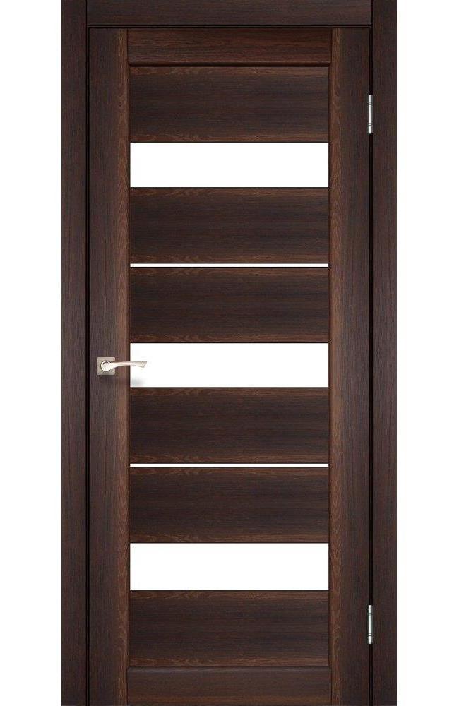 Двери Porto PR-12 Корфад орех стекло Сатин - Межкомнатные двери — фото №1