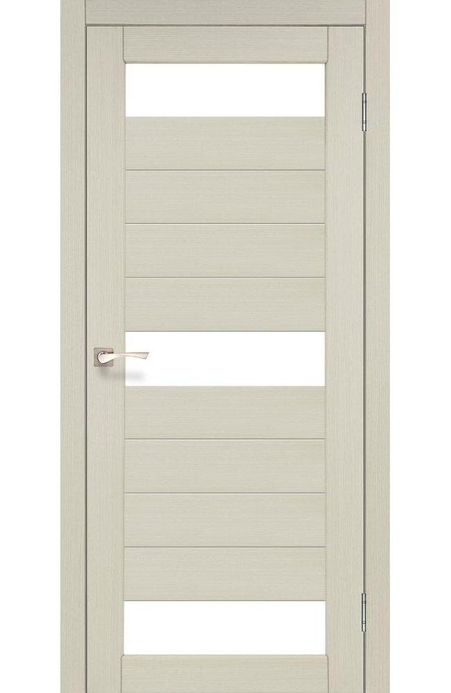 Двери Porto PR-14 Корфад беленый дуб стекло Сатин - Межкомнатные двери — фото №1