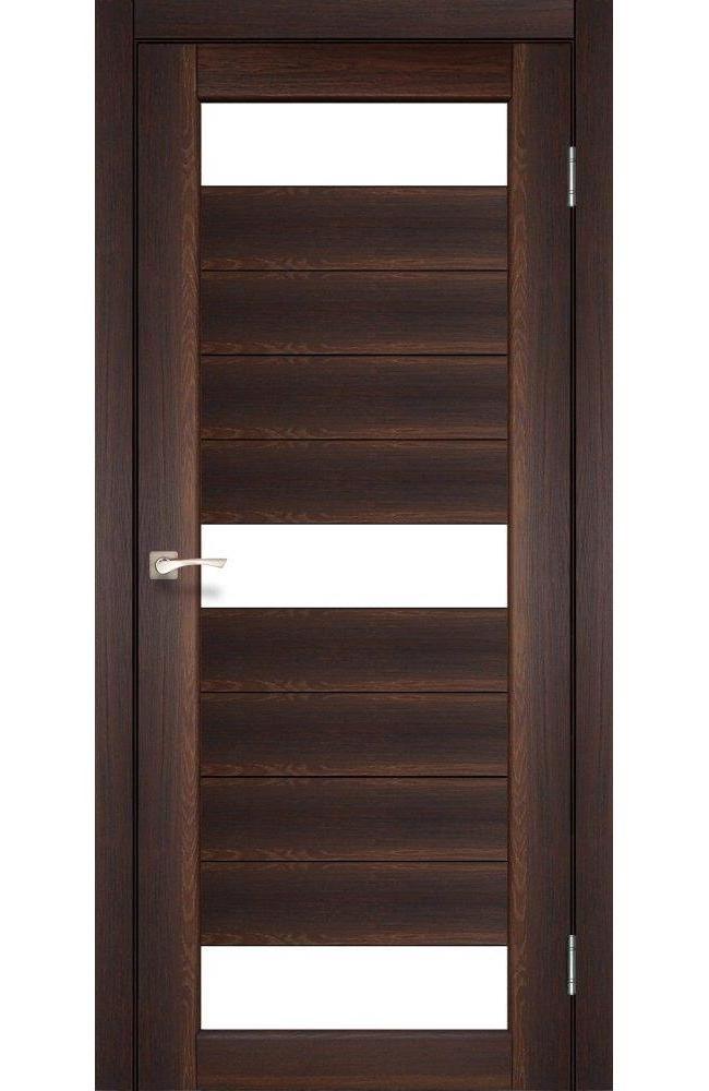 Двери Porto PR-14 Корфад орех стекло Сатин - Межкомнатные двери — фото №1