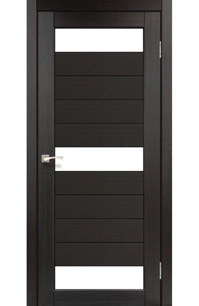 Двери Porto PR-14 Корфад венге стекло Сатин - Межкомнатные двери — фото №1