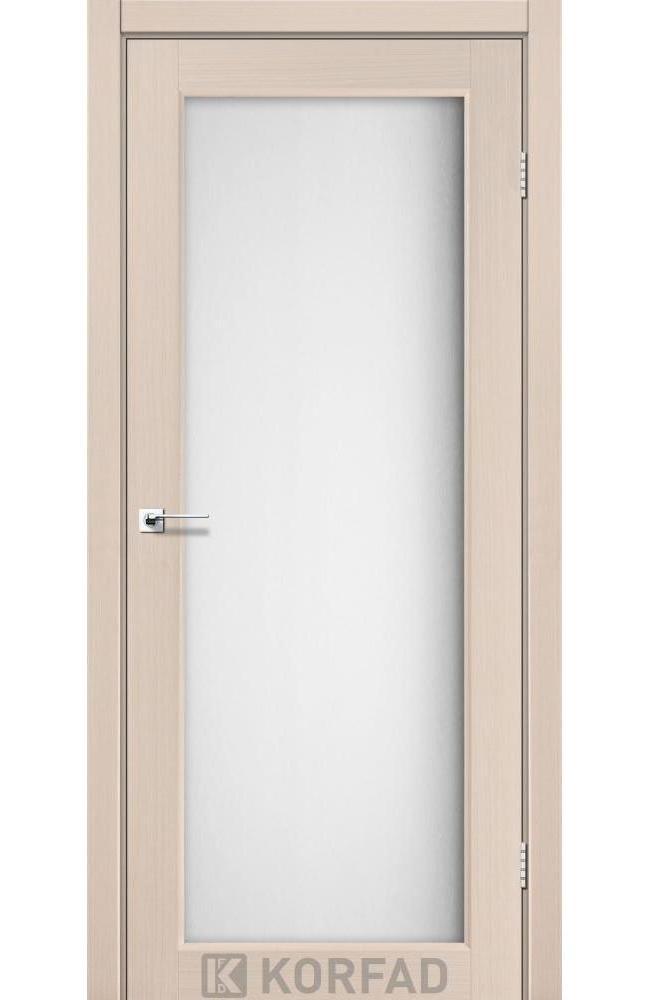 Двери Sanvito SV-01 Корфад беленый дуб стекло Сатин