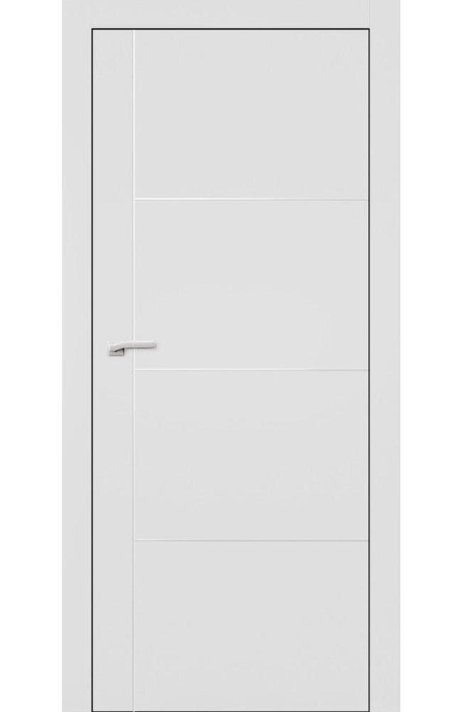 Двери L3 Lines Омега белый мат глухое