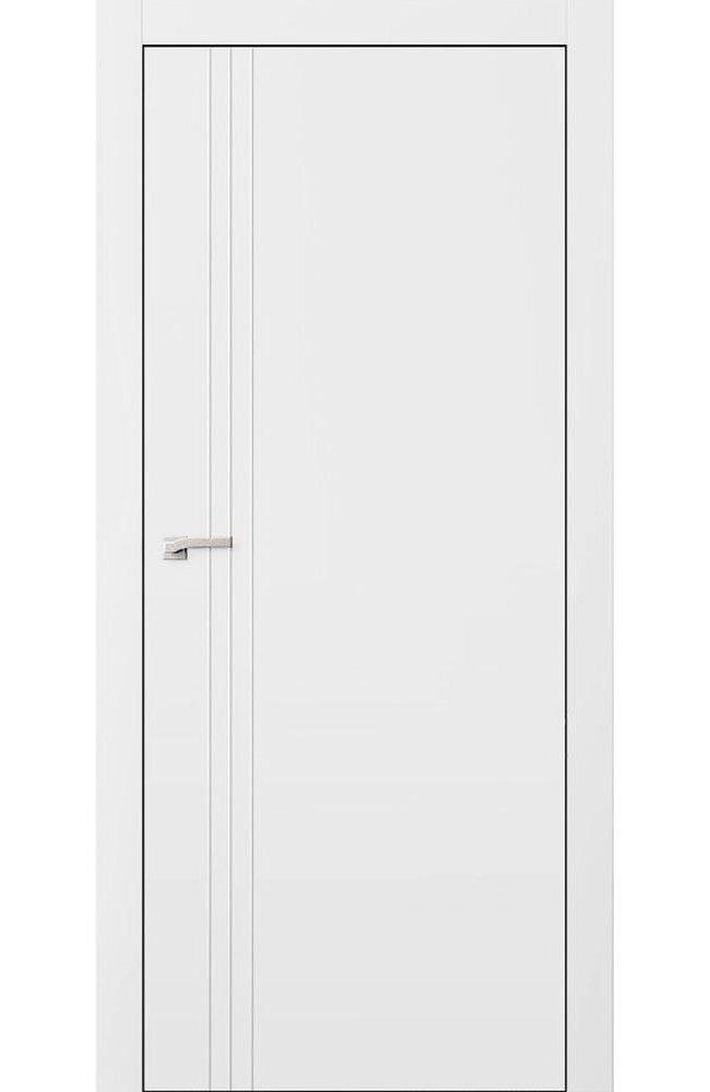 Двери L7 Lines Омега белый мат глухое