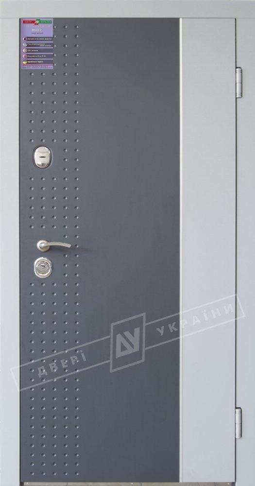 Двері України Леон-2 Интер антрацит світло-сірий