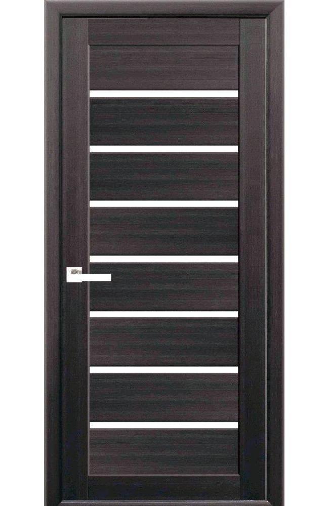 Двери Леона Новый Стиль венге brown стекло Сатин
