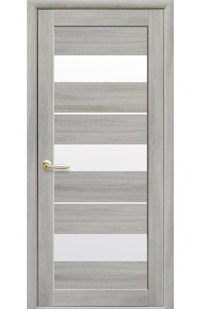Двери Лилу Новый Стиль ясень патина стекло Сатин - Межкомнатные двери — фото №1