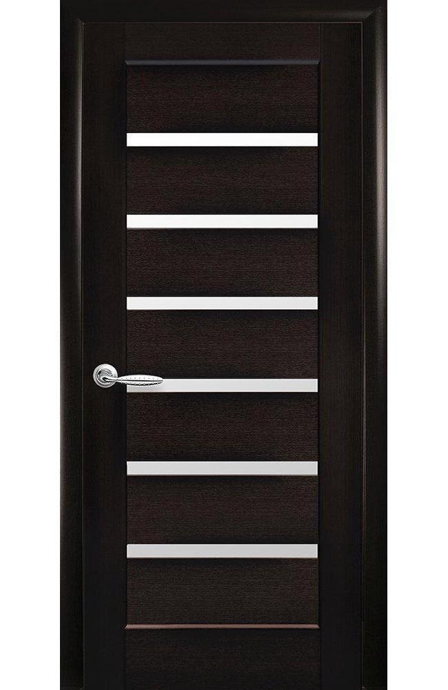 Двери Линнея Новый Стиль венге делюкс стекло Сатин - Межкомнатные двери — фото №1
