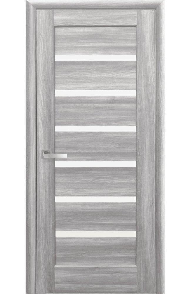 Двери Линнея Новый Стиль бук пепельный делюкс стекло Сатин - Межкомнатные двери — фото №1
