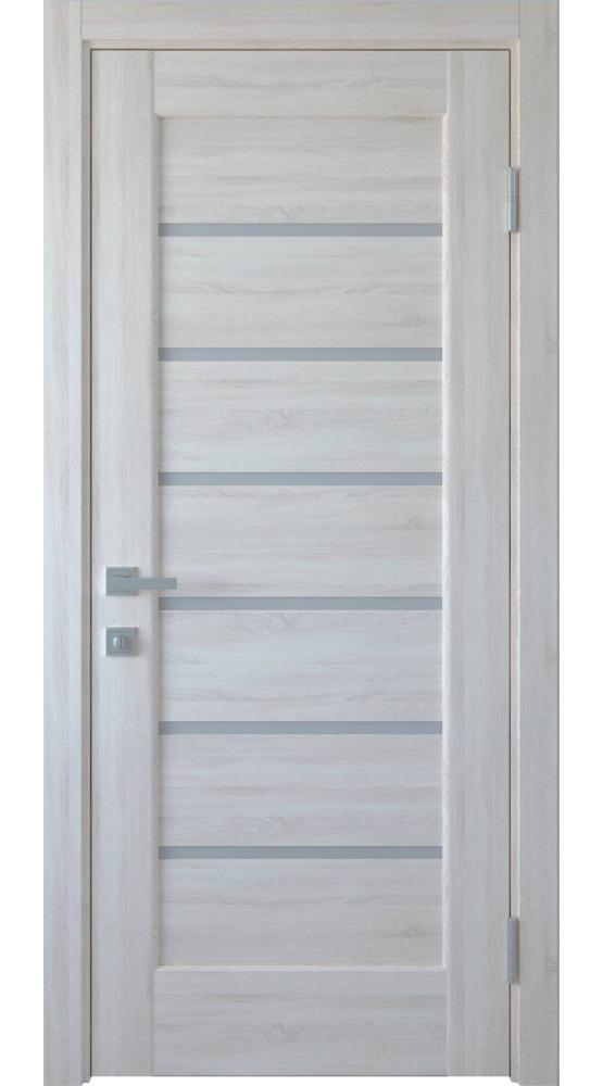 Двери Линнея Новый Стиль ясень делюкс стекло Сатин
