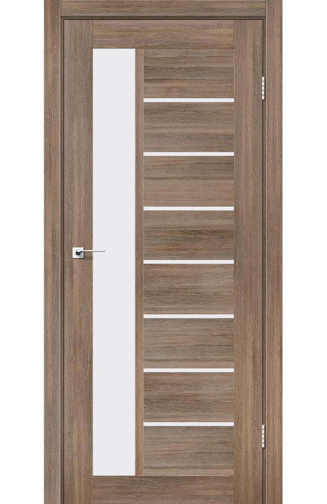 Двери Lorenza Леадор серое дерево стекло Сатин - Межкомнатные двери — фото №1