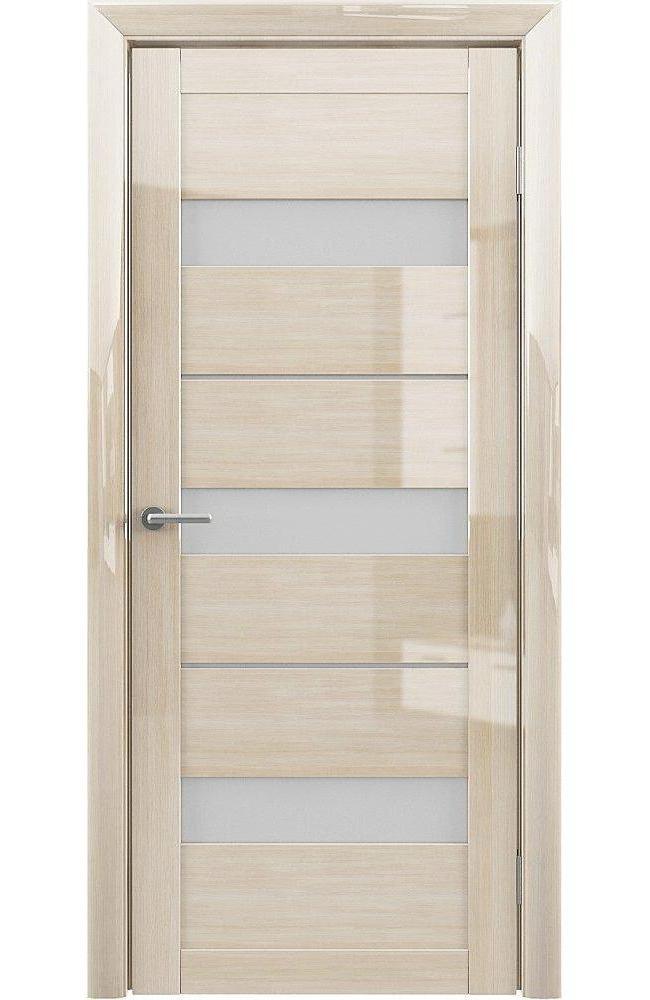 Двери Praga Альберо глянец мокко стекло белое