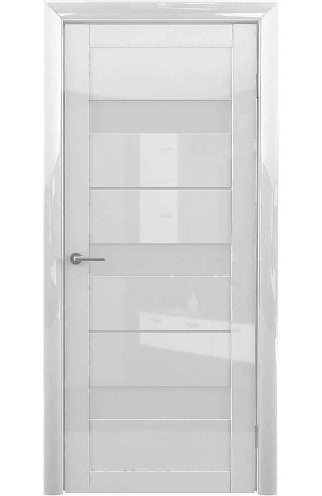 Двери Praga Альберо белый глянец стекло белое