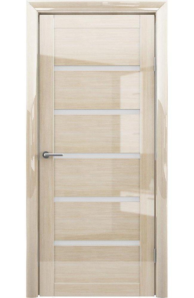 Двери Vena-Flora Альберо глянец мокко стекло Сатин