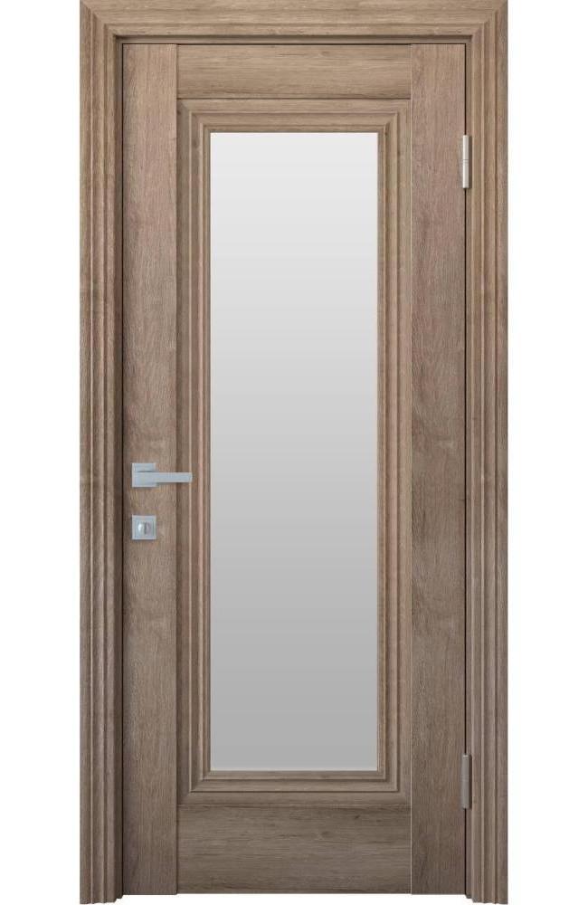 Двери Милла Новый Стиль орех европейский стекло Сатин - Межкомнатные двери — фото №1
