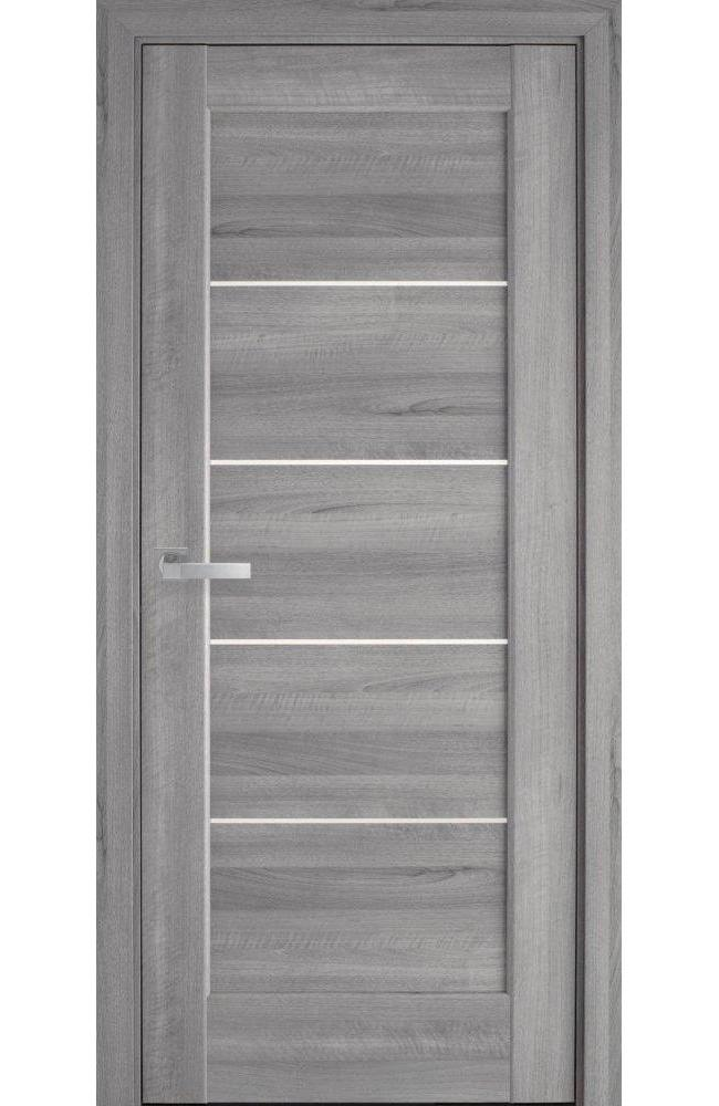 Двери Мира Новый Стиль бук пепельный делюкс стекло Сатин - Межкомнатные двери — фото №1