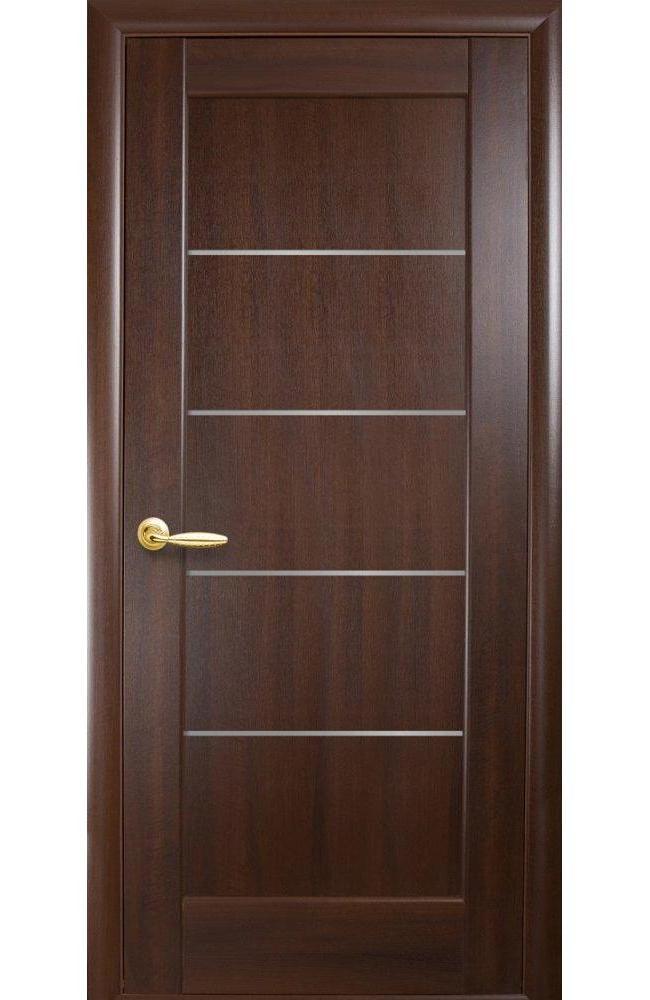 двери мира новый стиль каштан делюкс со стеклом сатин