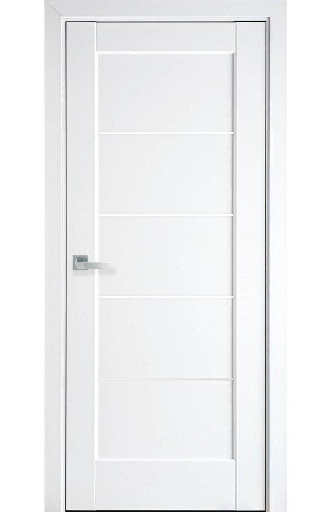 Двери Мира Новый Стиль белый мат премиум стекло Сатин - Межкомнатные двери — фото №1