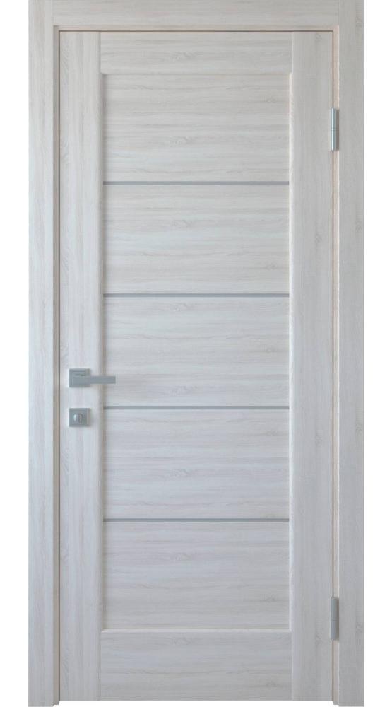 Двери Мира Новый Стиль ясень делюкс стекло Сатин - Межкомнатные двери — фото №1
