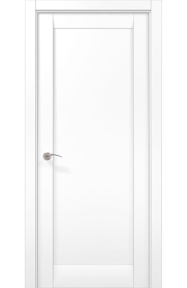 Двери ML-00Fc Папа Карло белый мат глухое - Межкомнатные двери — фото №1