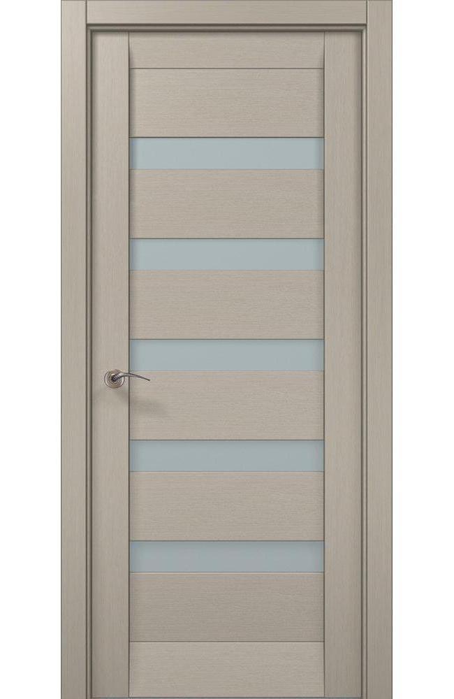 Двери ML-02c Папа Карло дуб крем стекло Сатин - Межкомнатные двери — фото №1