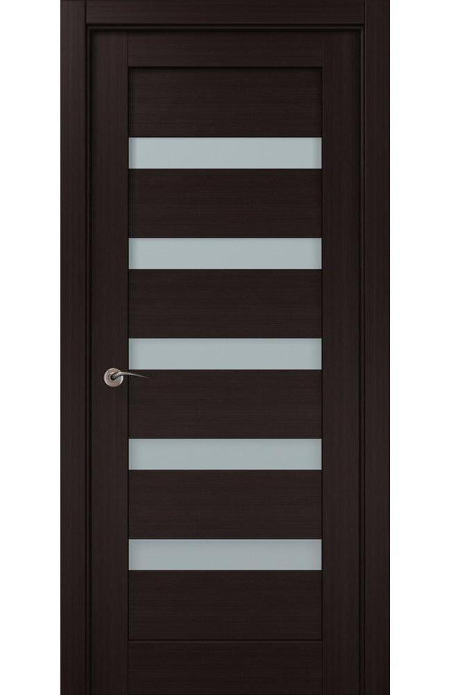 Двери ML-02c Папа Карло венге стекло Сатин - Межкомнатные двери — фото №1