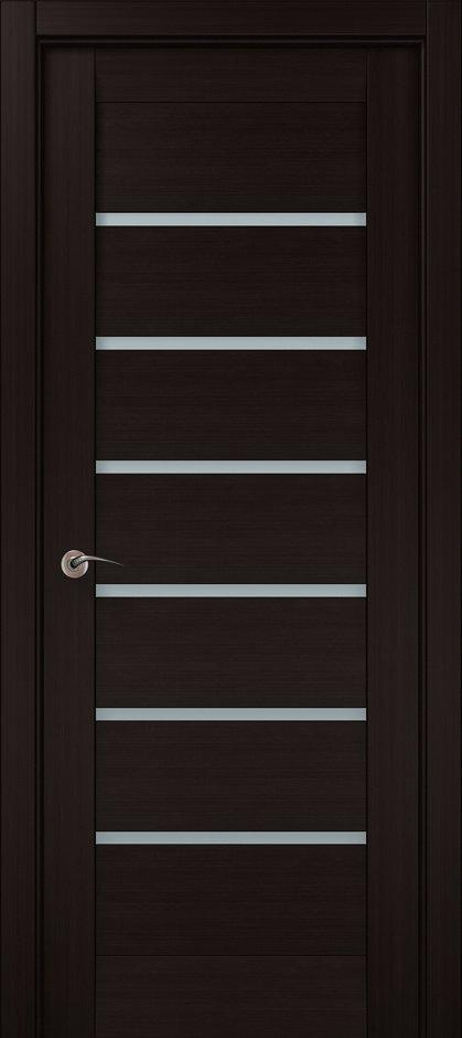 Двери ML-14c Папа Карло венге со стеклом - Межкомнатные двери — фото №1